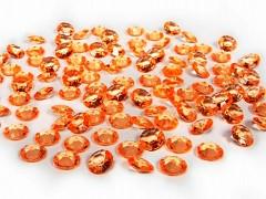 Diamanty oranžové 12 mm