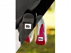 Samolepky na boty Mr. a Mrs.