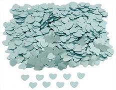 Konfety srdíčka světle modrá