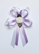 Vývazek pro svědky a rodiče bílo fialový lila