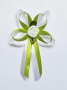 Vývazek pro svědky a rodiče bílo světle zelený
