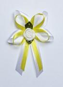 Vývazek pro svědky a rodiče bílo žlutý