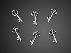 Aplikace vintage klíček 25 ks