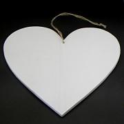 Dřevěná cedulka srdce