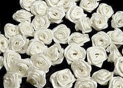Růžička na svatební vývazek smetanová 12 mm