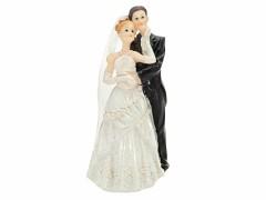 Svatební figurka Ženich a nevěsta se zdobenými šaty