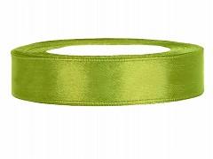 Stuha saténová světle zelená 12 mm x 25 m
