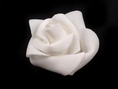 Růžička pěnová bílá 4,5 cm 10 ks