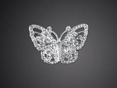 Štrasová brož motýlek