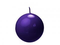 Svíčka koule tmavě fialová lakovaná ø 80 mm