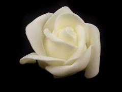 Růžička pěnová vanilla ivory 4,5 cm 10 ks