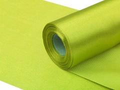 Satén 16 cm x 9 m světle zelený