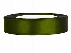 Stuha saténová olivově zelená 12 mm x 25 m
