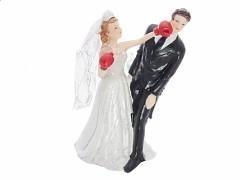 Svatební figurka Nevěsta boxerka