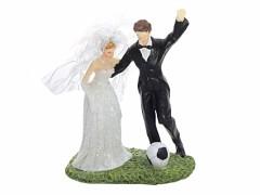 Svatební figurka Nevěsta a ženich fotbalista