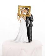 """Svatební figurka na dort Nevěsta a ženich """"v obraze"""""""