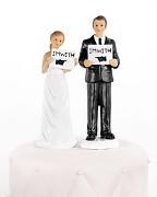 """Svatební figurka na dort """"Cedulky"""""""