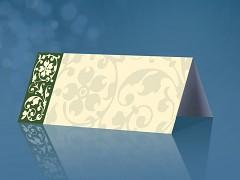 Svatební jmenovka olivově zelený ornament