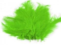 Ozdobné peříčko limetkově zelené 20 ks