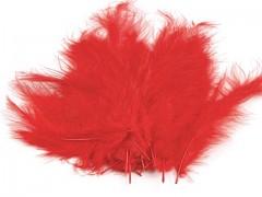 Ozdobné peříčko červené 20 ks
