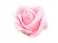 Růžička pěnová jemně růžová 4,5 cm 10 ks