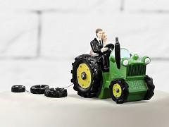 Svatební figurka Nevěsta a ženich v traktoru