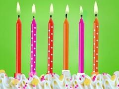 Svíčky na dort odstíny červené