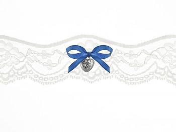 Svatební podvazek bílý č.27