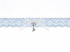 Svatební podvazek modrý č.29