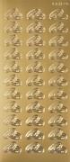 Samolepky snubní prstýnky zlaté 33 ks