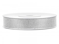 Stuha luxerová stříbrná 10 mm x 22 m