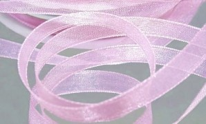 Šifónová růžová lila stuha 6 mm x 25 m