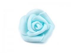 Růžička pěnová jemně tyrkysová 4 cm 10 ks