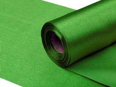Satén 16 cm x 9 m zelený