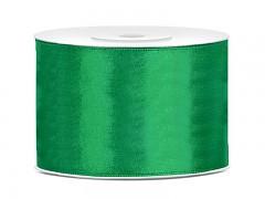 Stuha saténová smaragdově zelená 50 mm x 25 m