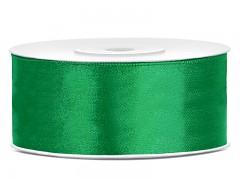 Stuha saténová smaragdově zelená 25 mm x 25 m