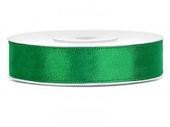 Stuha saténová smaragdově zelená 12 mm x 25 m