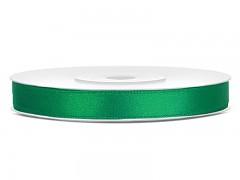 Stuha saténová smaragdově zelená 6 mm x 25 m