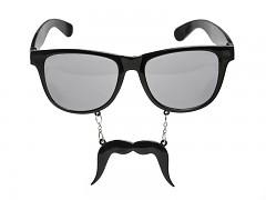 Párty brýle černé s knírem