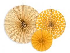 Rozety okrově žluté 3 ks
