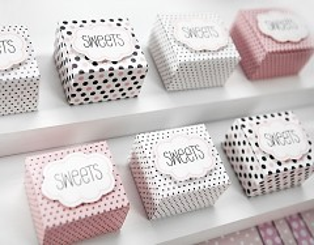 Krabička na svatební mandle sweets kolekce růžová 6 ks