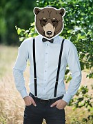 Maska medvěd na svatební focení