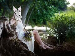 Maska zajíc na svatební focení