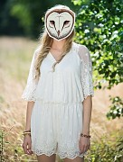 Maska sova pálená na svatební focení
