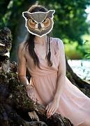 Maska sova na svatební focení