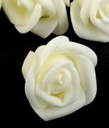 Růžička pěnová ivory 4 cm 10 ks