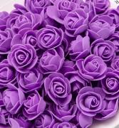 Růžička pěnová fialová lila 3,5 cm