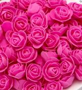 Růžička pěnová fuchsiová 3,5 cm