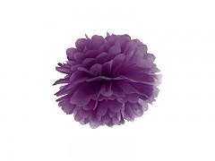 Pom-pom tmavě purpurově fialový 25 cm