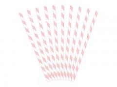 Brčka bílo pudrově růžová 10 ks